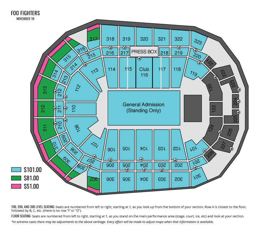 Iowa events center detailed seating chart iowa events center