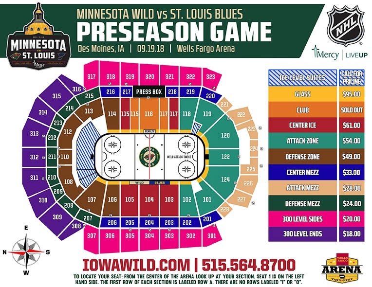 Nhl preseason game iowa events center