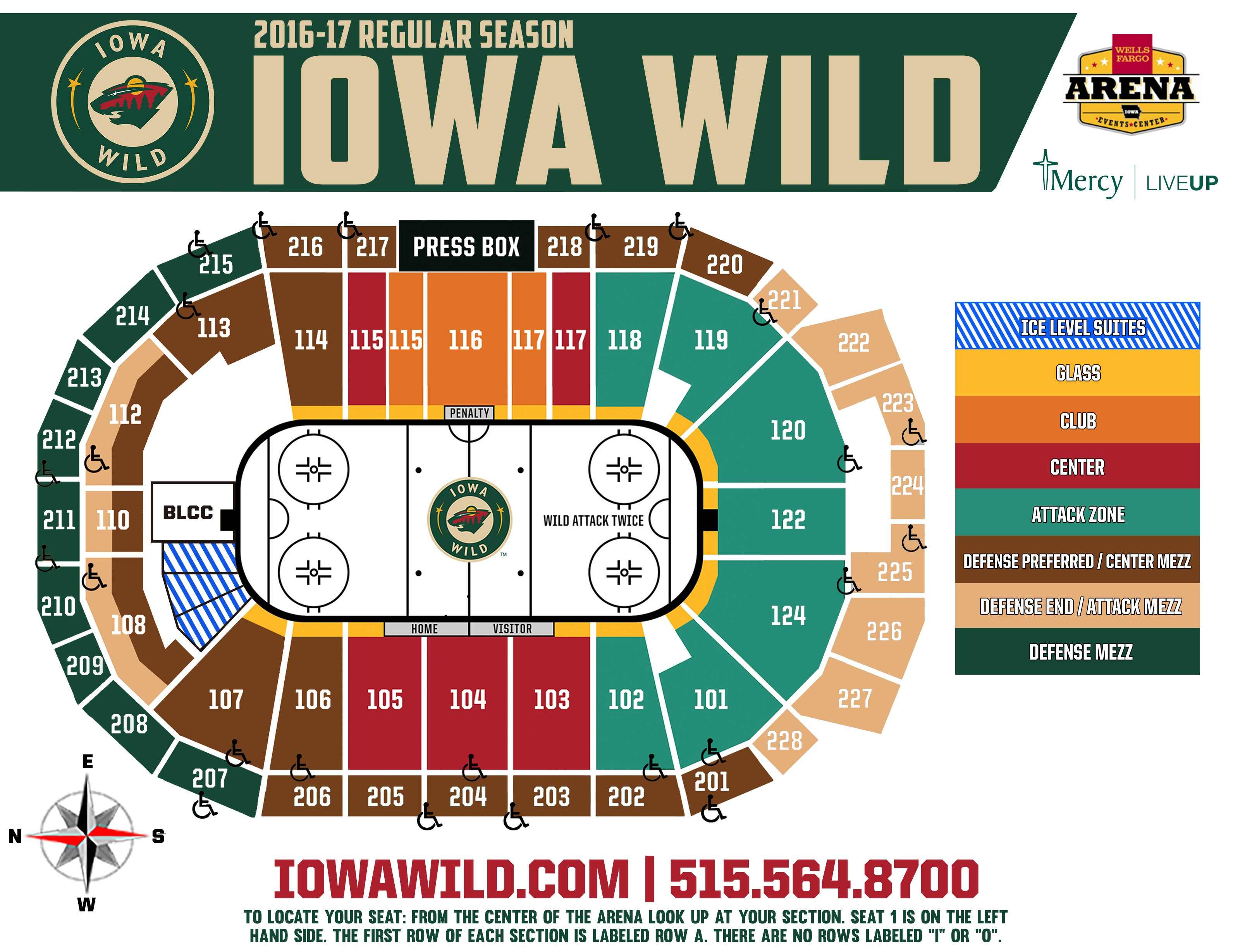 Wild seating chart view real fitness