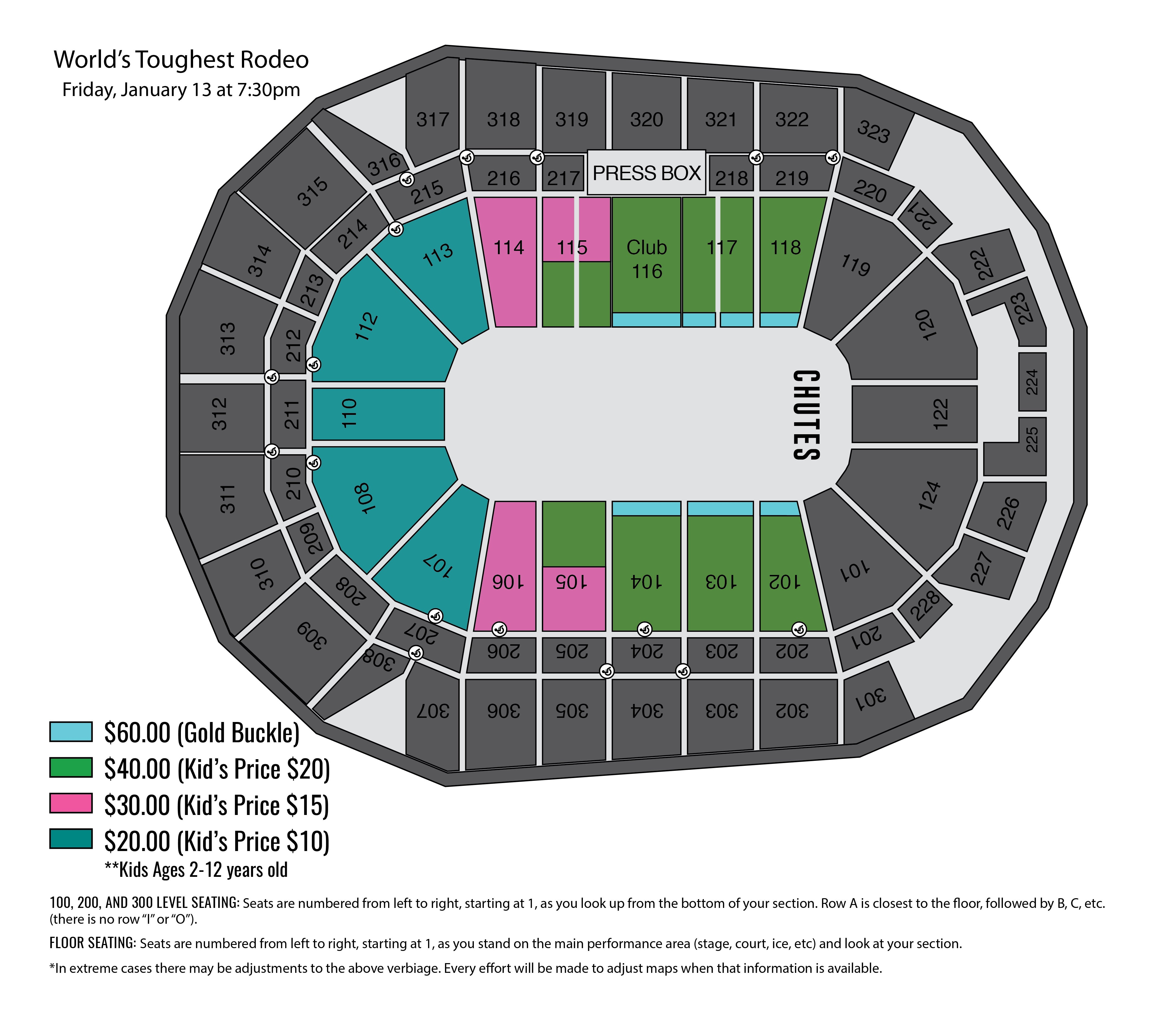 Bmw Zimbrick: Wells Fargo Center Concert Seating Chart.Seating Charts