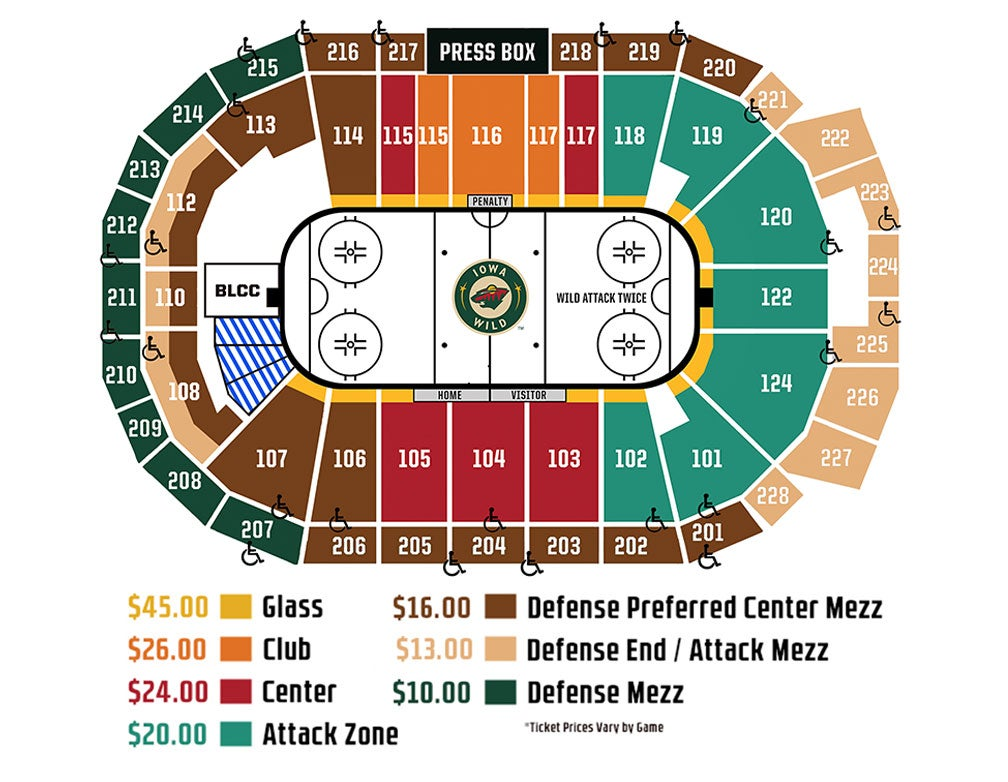 Iowa wild seating chart elcho table